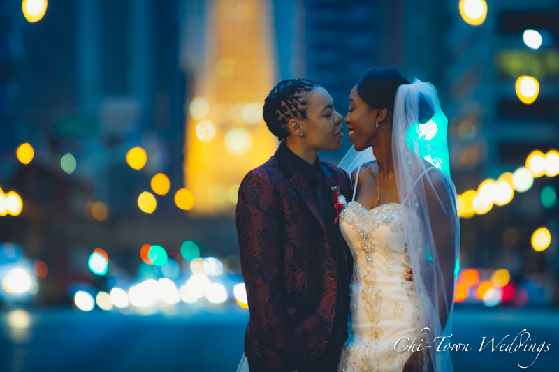 Chicago Lasalle Street Bridge with the Two Brides