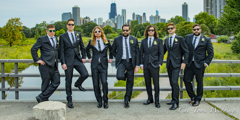 www.Chi-Town-Weddings.com Groomsmen Lincoln Park Chicago