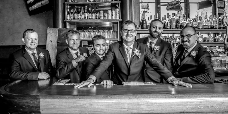 Groomsmen at the bar