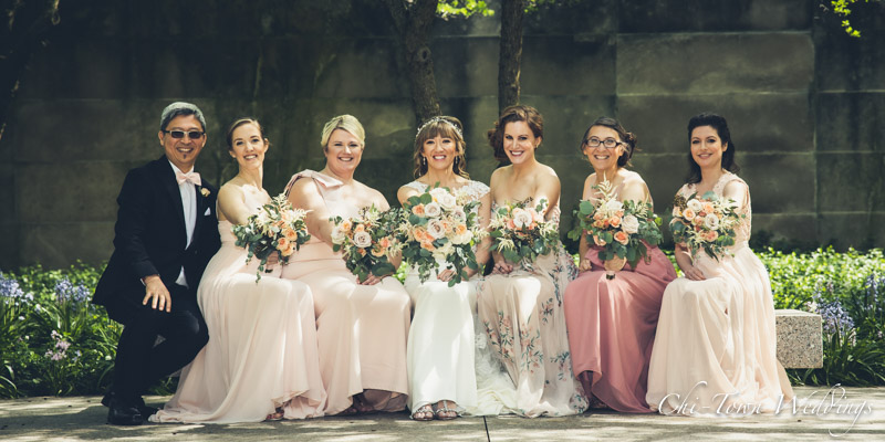 www.Chi-Town-Weddings.com Bridesmaids Chicago IL