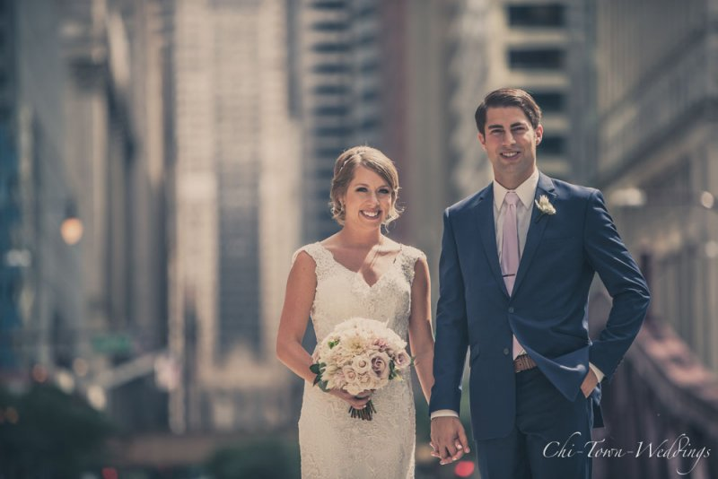 Chi-Town-Weddings-Bride and Groom Lasalle St, Chicago
