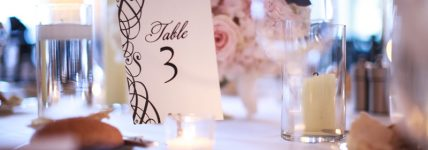 Table Details with small centerpiece